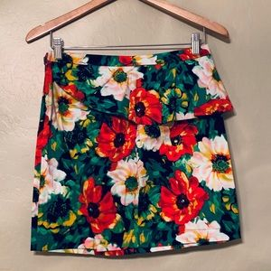 Dresses & Skirts - Summer Green, Red and White Floral Skirt